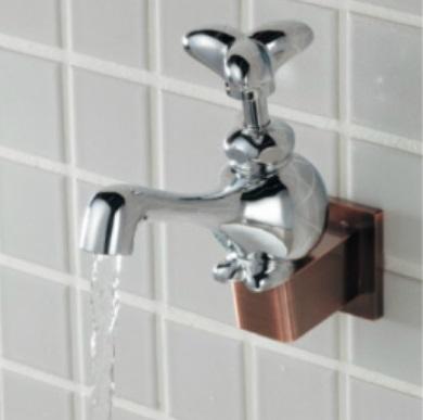 カクダイDa Reyaアイキャッチ水栓 バンジー 面白蛇口