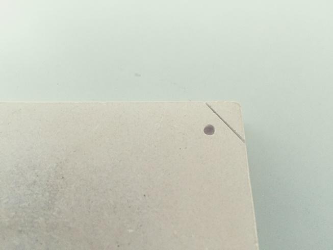 珪藻土 コースター テスト加工