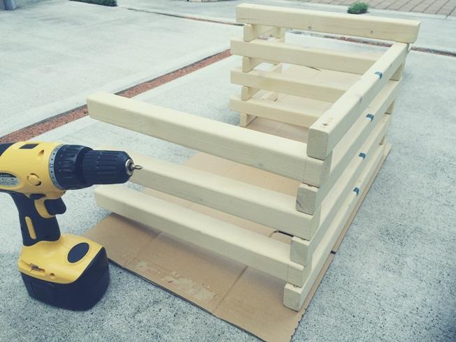 玄関 腰掛 組み立て DIY