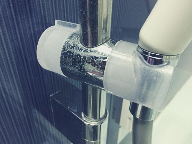 リンレイ ウルトラハードクリーナー バス用 水垢掃除前