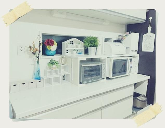 キッチン 整理整頓 キッチンカウンター 上 おしゃれ