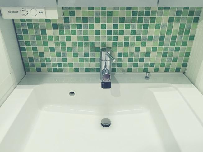 洗面化粧台 Decore(デコレ) DIYタイル モザイクタイル 目地埋め完成 DIY