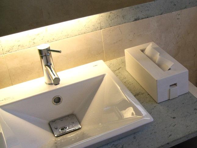 洗面所 洗面台 洗面化粧台 間接照明 DIY