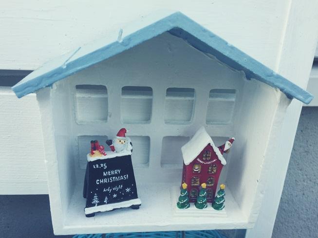 クリスマス デコレーション イエデコ ヘヤデコ ニワデコ クリスマス置物 ハウス型シェルフ