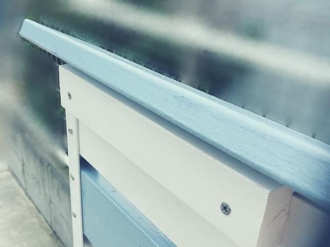 DIY 飾り ウッドフェンス 板壁 板塀 笠木 支え 組み立て
