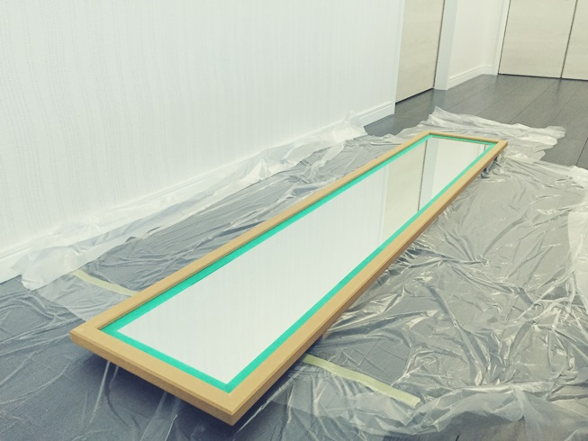 スタンドミラー ウォールミラー DIY リメイク インテリア 塗装 マスキング