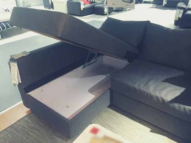 IKEA イケア ソファー FRIHETEN フリヘーテン 新居 買い替え 変形 ベッド 収納 口コミ ソファー収納