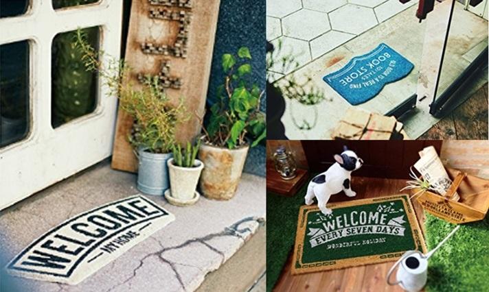 玄関 ドア マット 屋外 コイヤー ココ book store ブックストアー welcome ウェルカム おしゃれ