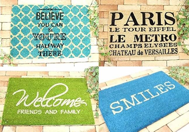 玄関 ドア マット 屋外 コイヤー ココ smile スマイル believe ビリーブ paris パリ welcome ウェルカム おしゃれ