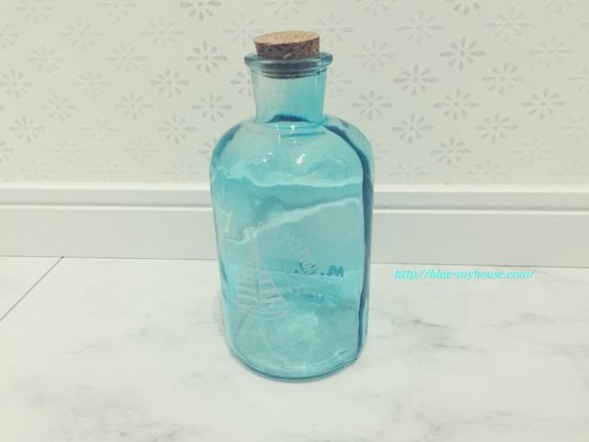 ボトル ビン 瓶 マリン テイスト ブルー 青 ヨット