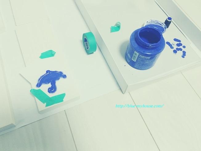 DIY 傘 立て アンブレラ スタンド おもちゃ 箱 収納 外遊び 玄関 自作 ステンシル 作業