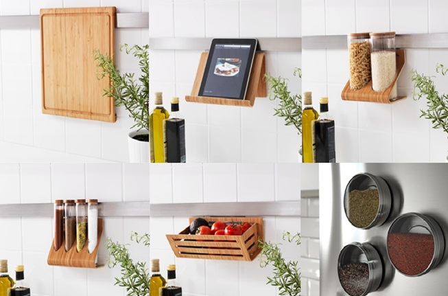 IKEA イケア キッチン 壁掛 収納 RIMFORSA リムフォルサ まな板 バスケット タブレット スタンド ホルダー 容器 小物 竹 ステンレス ガラス GRUNDTAL グルンドタール 小物入れ アイテム