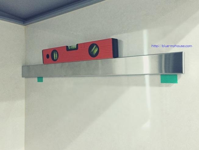 IKEA イケア キッチン 壁掛 RIMFORSA リムフォルサ レール 壁 穴 メラミン 化粧 板 パネル 両面テープ 貼付