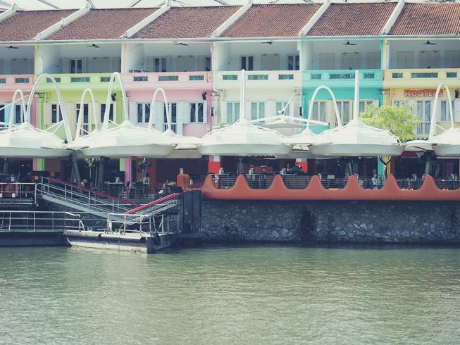 シンガポール クラークキー クラーク キー ノース ボート カラフル お店 店舗