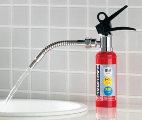 カクダイDa Reyaアイキャッチ水栓 消火器蛇口 面白蛇口