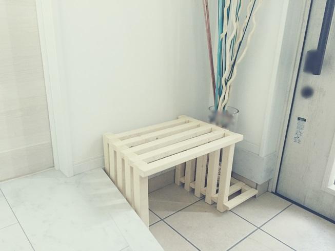 玄関 腰掛 DIY 設置
