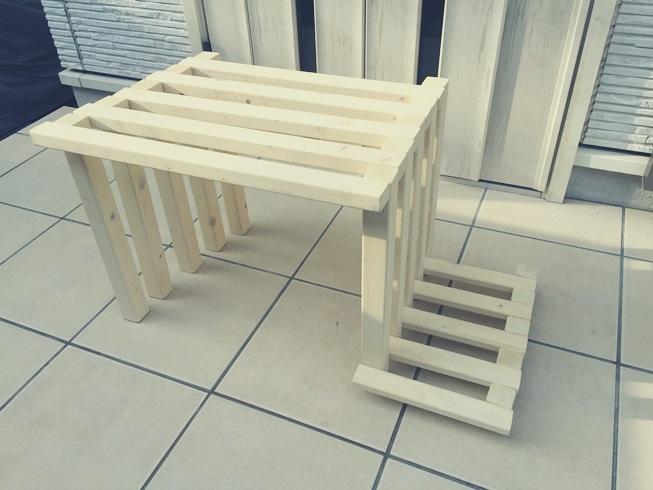 玄関 腰掛 DIY 完成 横
