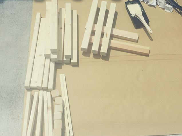 玄関 腰掛 木工 DIY