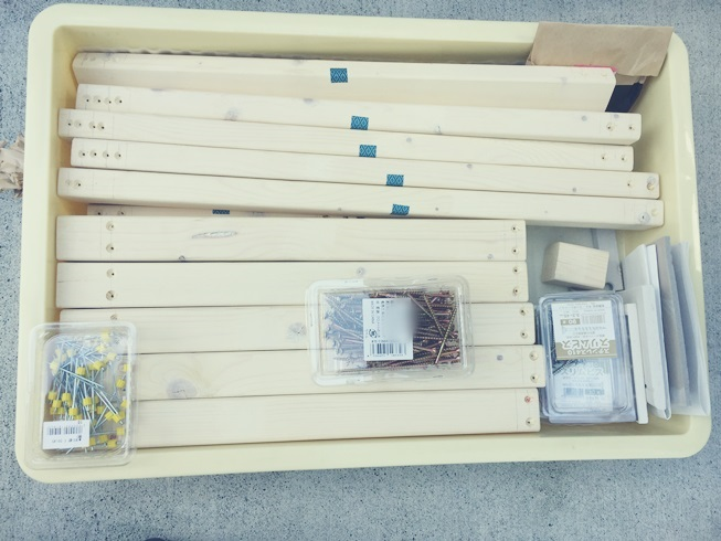玄関 腰掛 木工 DIY 完了