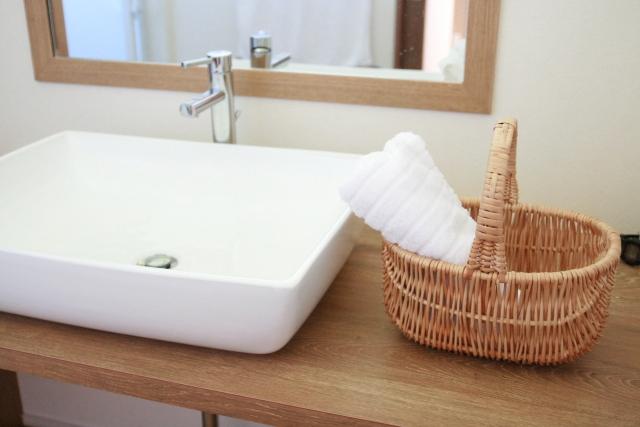 洗面化粧台 モザイクタイル DIY