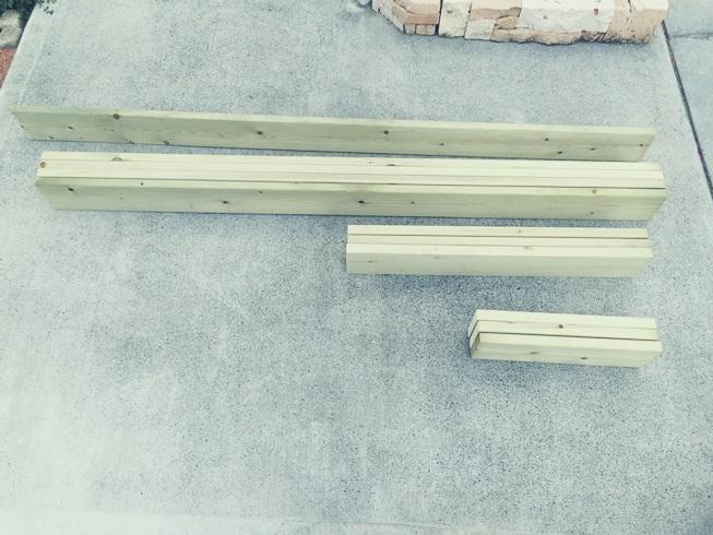 DIY 飾り ウッドフェンス 板壁 板塀 木工 防腐1×4
