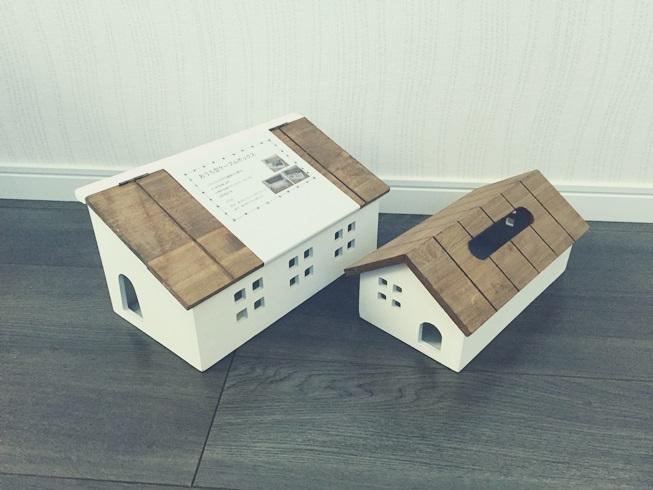 salut! サリュ ハウス型 家型 ティッシュ ボックス ケース ケーブル ボックス