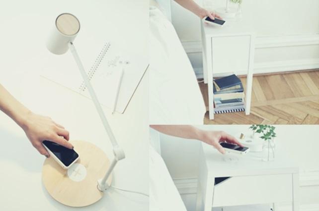 IKEA イケア iPhone スマートフォン スマホ ワイヤレス充電機能付き家具 morik nordli selje riggad varv