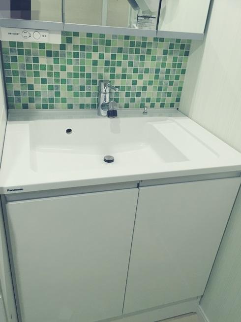 洗面化粧台 Decore(デコレ) DIYタイル モザイクタイル DIY 完成下