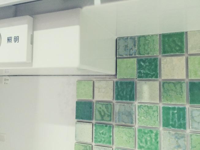 洗面化粧台 Decore(デコレ) DIYタイル モザイクタイル 隙間貼付け DIY