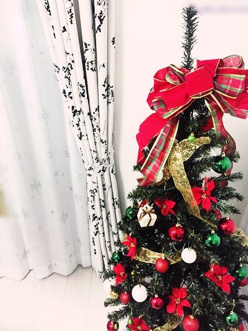 クリスマス デコレーション イエデコ ヘヤデコ ニワデコ クリスマスツリー 昼