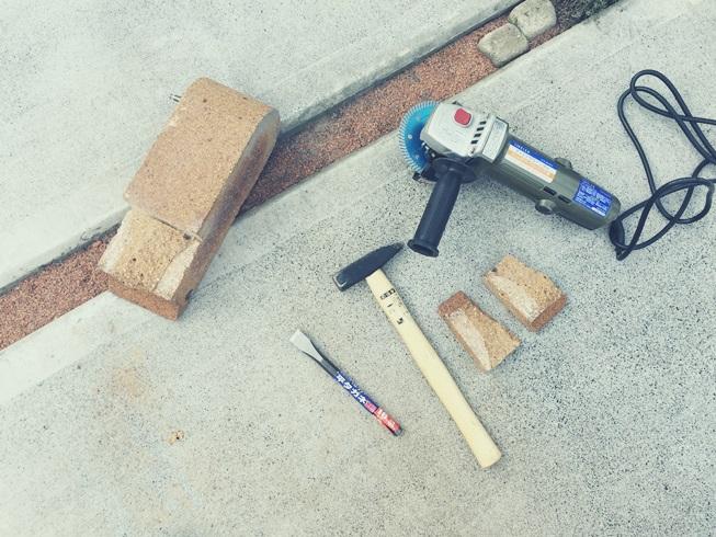 DIY 飾り ウッドフェンス 板壁 板塀 土台 基礎 レンガ 加工
