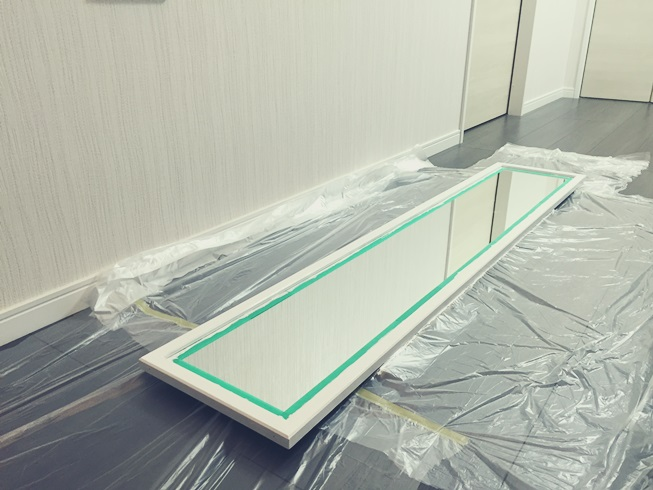 スタンドミラー ウォールミラー DIY リメイク インテリア 塗装 白 ホワイト