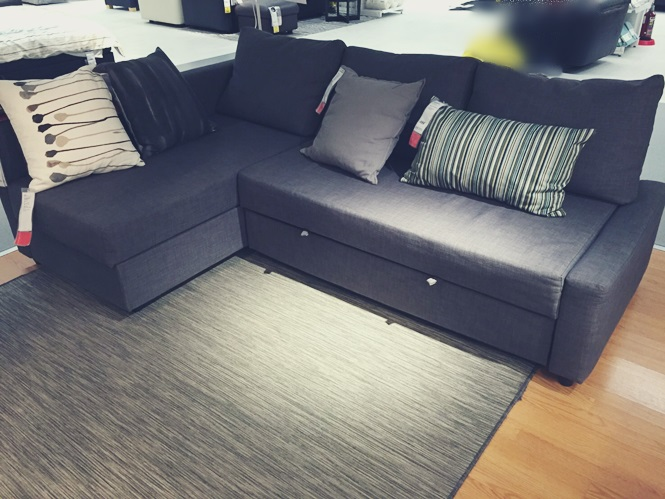IKEA イケア ソファー FRIHETEN フリヘーテン 新居 買い替え 変形 ベッド 収納 口コミ コーナーソファー