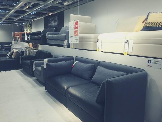 IKEA イケア ソファー FRIHETEN フリヘーテン 新居 買い替え 変形 ベッド 収納 口コミ 店内