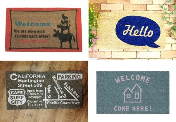 玄関 ドア マット 屋外 コイヤー ココ hello ハロー house 家 california カリフォルニア welcome ウェルカム おしゃれ