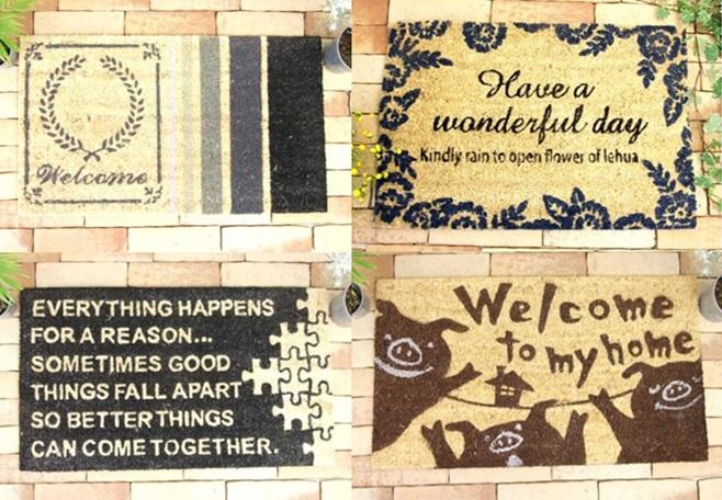 玄関 ドア マット 屋外 コイヤー ココ pig ブタ puzzle パズル wonderful ワンダフル welcome ウェルカム おしゃれ