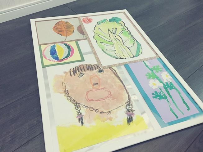 子供 娘 息子 家 部屋 絵 飾る ディスプレー 画伯 IKEA イケア FISKBO フィスクボー ピクチャー フォト 壁掛け フレーム 額縁