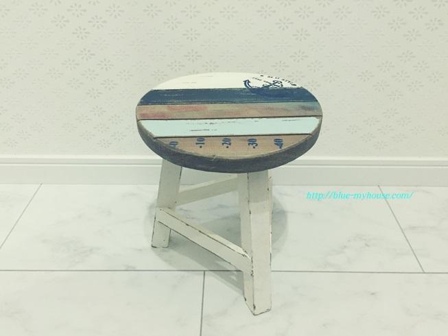椅子 花台 スツール チェア マリン テイスト ミニ アンティーク