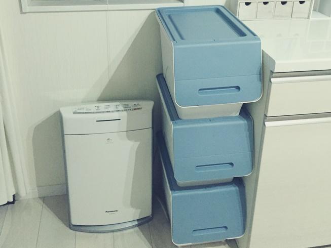 スタック ボックス 収納 しまう 片付け 整理整頓 ブルー