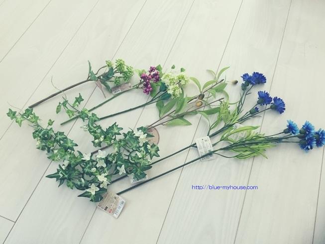 玄関 花 飾り ウェルカム フラワー ダイソー 造花 ナチュラルキッチン キャンドゥ セリア