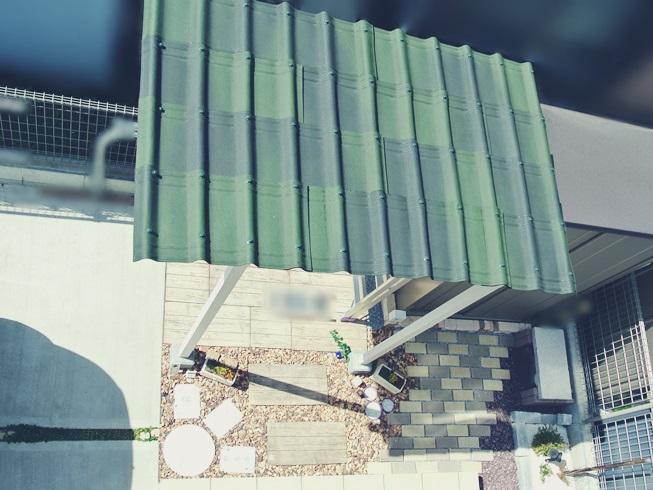 DIY カーポート サイクルポート テラス 屋根 サンルーム ストックヤード 補強 駐車場 駐輪場 小屋 オンデュリン オンデュビラ シェードグリーン