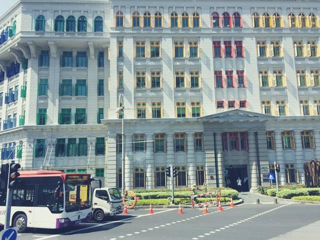 シンガポール クラークキー クラーク キー 旧ヒルストリート警察署 カラフル