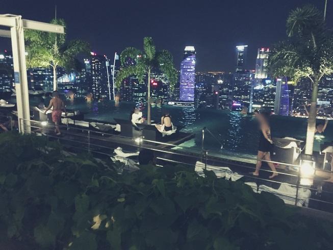 シンガポール マリーナベイサンズ インフィニティプール スカイパーク 夜景